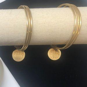 NWOT 2 sets gold bangles